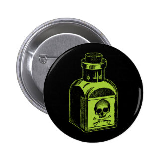 Poison Bottle Pinback Button