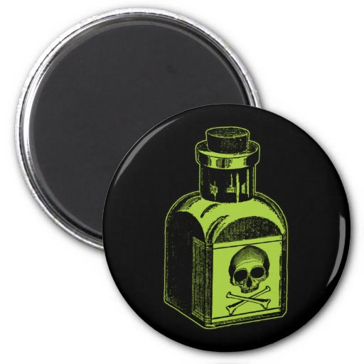 Poison Bottle Refrigerator Magnet