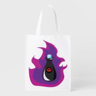Poison Bottle Reusable Bag WHITE Grocery Bag