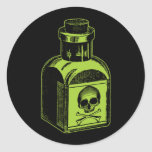 Poison Bottle Round Stickers