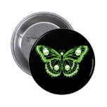 Poison Butterfly Pinback Button