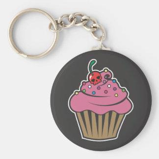 Poison Cherry Cupcake Basic Round Button Keychain
