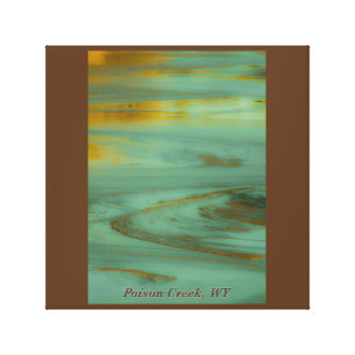 Poison Creek Wyoming Abstract Photography Design Canvas Print