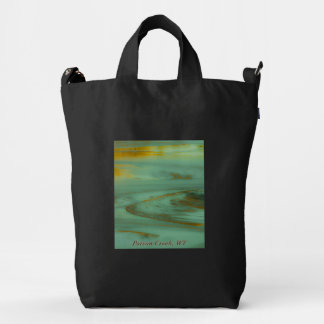 Poison Creek Wyoming Abstract Photography Design Duck Bag