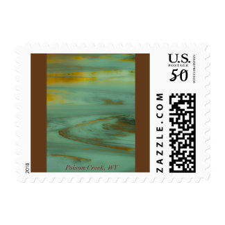 Poison Creek Wyoming Abstract Photography Design Postage
