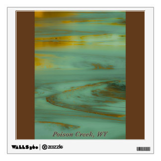 Poison Creek Wyoming Abstract Photography Design Wall Decal