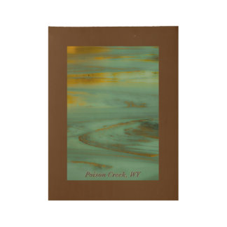 Poison Creek Wyoming Abstract Photography Design Wood Poster