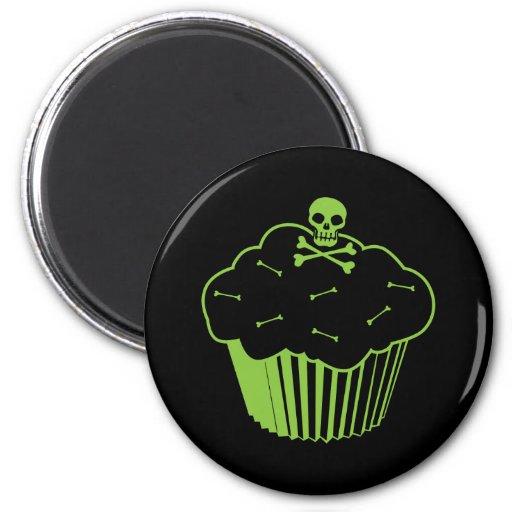 Poison Cupcake 2 Inch Round Magnet