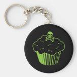Poison Cupcake Basic Round Button Keychain