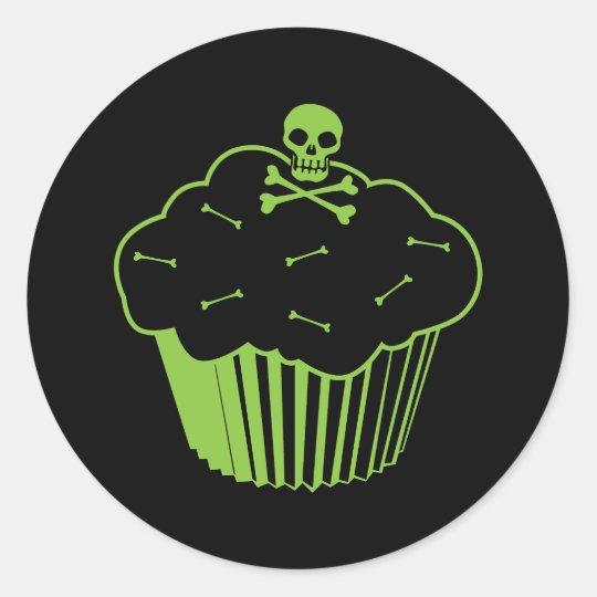 Poison Cupcake Classic Round Sticker