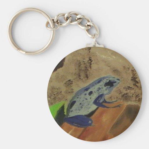 Poison Dart Frog # 1 Basic Round Button Keychain