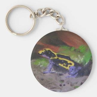 Poison Dart Frog # 3 Basic Round Button Keychain