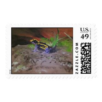 Poison Dart Frog # 3 Postage Stamps