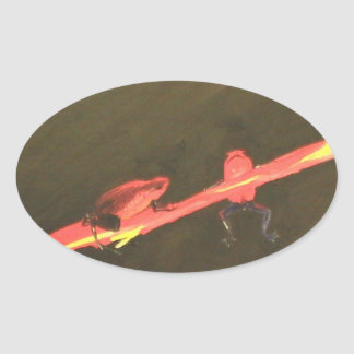 Poison Dart Frog # 4 Oval Sticker