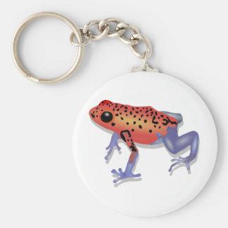 Poison Dart Frog Basic Round Button Keychain