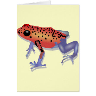 Poison Dart Frog Card