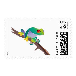 Poison Dart Frog on a Stick Postage