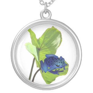 Poison Dart Frog Round Pendant Necklace