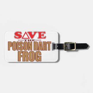 Poison Dart Frog Save Luggage Tag
