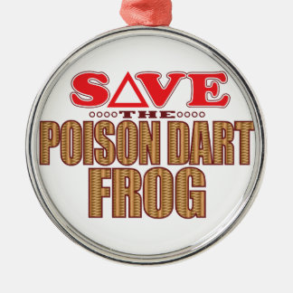Poison Dart Frog Save Metal Ornament