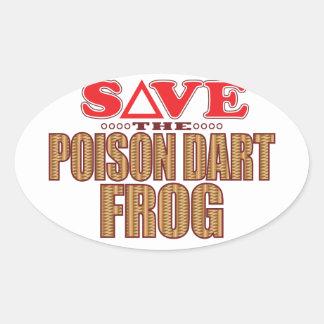 Poison Dart Frog Save Oval Sticker