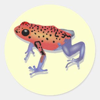 Poison Dart Frog Round Sticker
