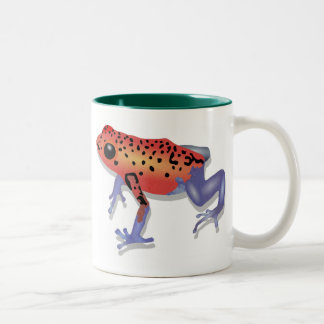 Poison Dart Frog Two-Tone Coffee Mug