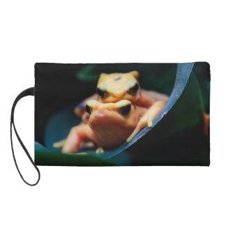 Poison Dart Frogs Wildlife Animal Photo Wristlet Clutch