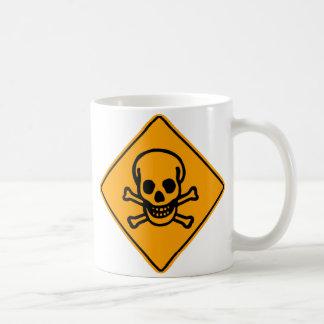 Poison Death Skull Yellow Diamond Warning Sign Coffee Mug