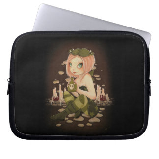 POISON FAIRY goth skull -Slightly Toxic laptop Computer Sleeves