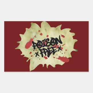 Poison Free Straight Edge Rectangular Sticker