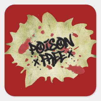 Poison Free Straight Edge Square Sticker