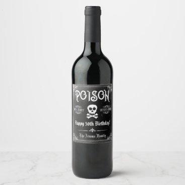 Poison Gothic Wine Label
