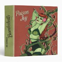 dc comics bombshells, poison ivy, poison ivy bombshell, batman villain poison ivy, poster pin up, retro pin-up, Binder with custom graphic design