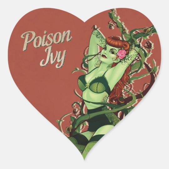 Poison Ivy Bombshell Heart Sticker