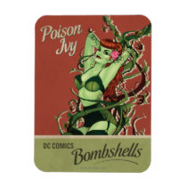 dc comics bombshells, poison ivy, poison ivy bombshell, batman villain poison ivy, poster pin up, retro pin-up, [[missing key: type_fuji_fleximagne]] com design gráfico personalizado