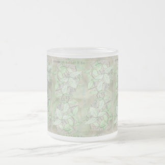 Poison Ivy Frosted Glass Coffee Mug