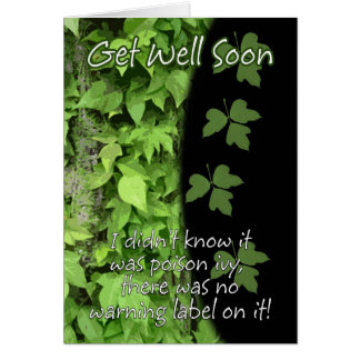 Poison Ivy Get Well Soon Card