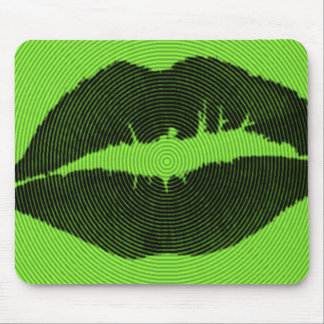 Poison Kiss Neon Green Spiral Mouspad Mouse Pad