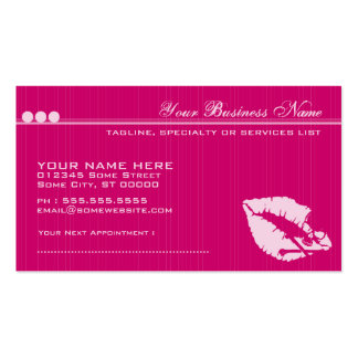 poison lips business card templates