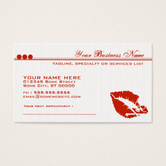 poison lips business card