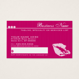 poison lips giftcard business card