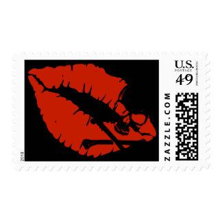 poison lips postage stamp