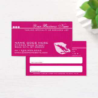 poison lips refer a friend card