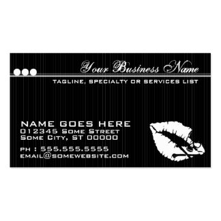 poison lips refer a friend card Double-Sided standard business cards (Pack of 100)