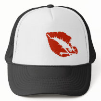 poison lips trucker hat