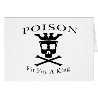 Poison Logo by: David Lee Greeting Card