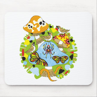 Poison mushroom and sparrow chiyuchiyun chiyun mouse pad