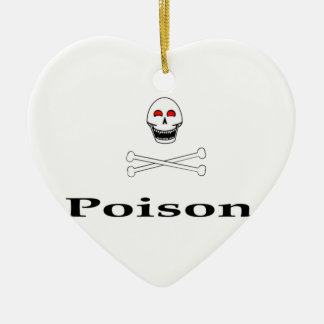 Poison Double-Sided Heart Ceramic Christmas Ornament