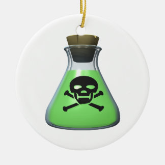 Poison Double-Sided Ceramic Round Christmas Ornament